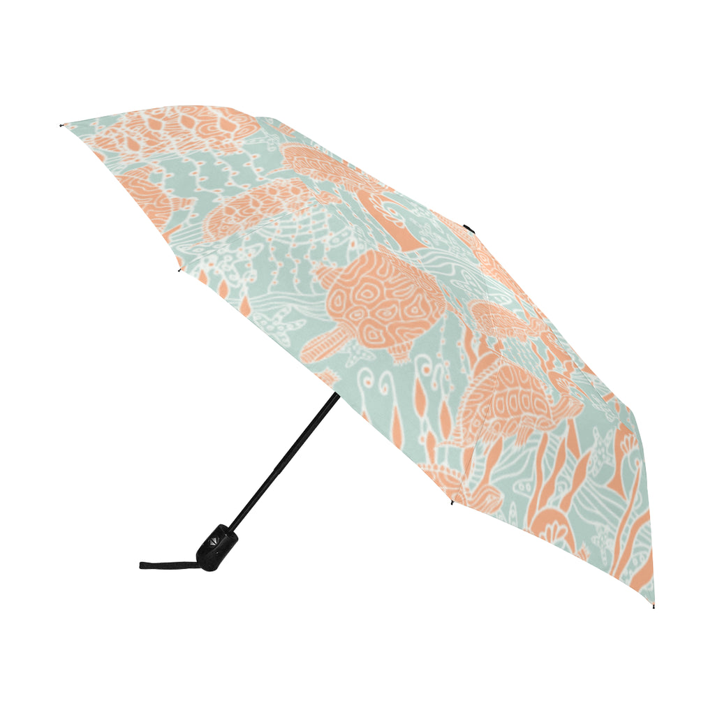 Sea Turtles SG06 - Anti-UV Automatic Umbrella(Outside Printing)(Model U09)-Geckojoy