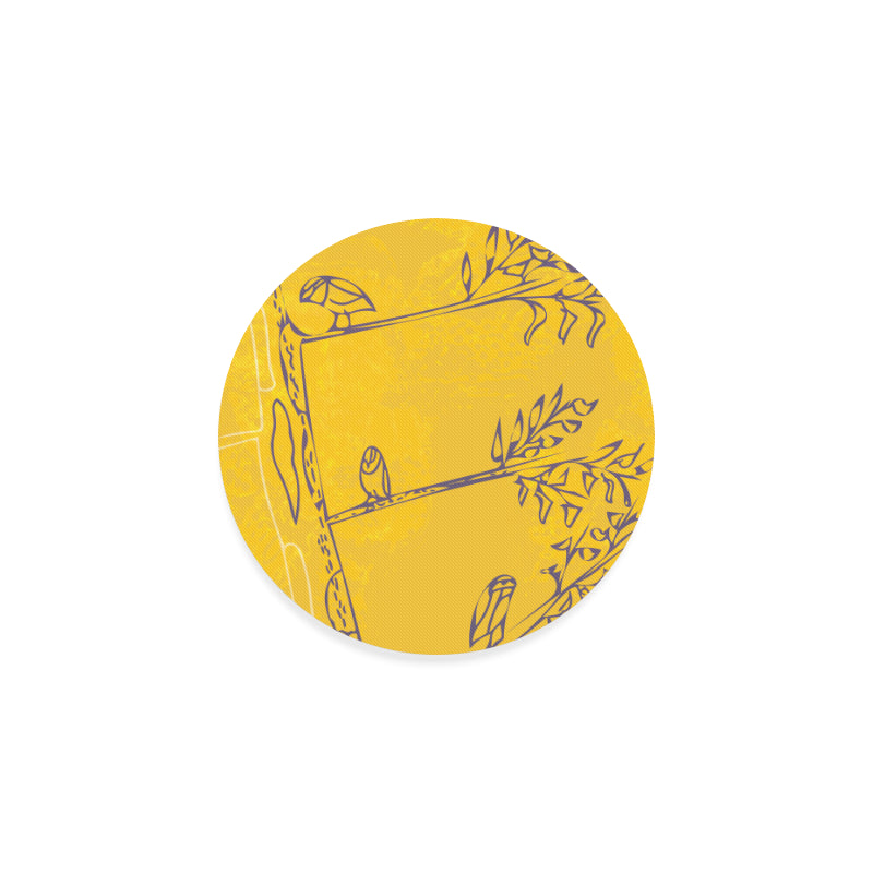 Drooping Drowsy Boughs Round Coaster-Geckojoy