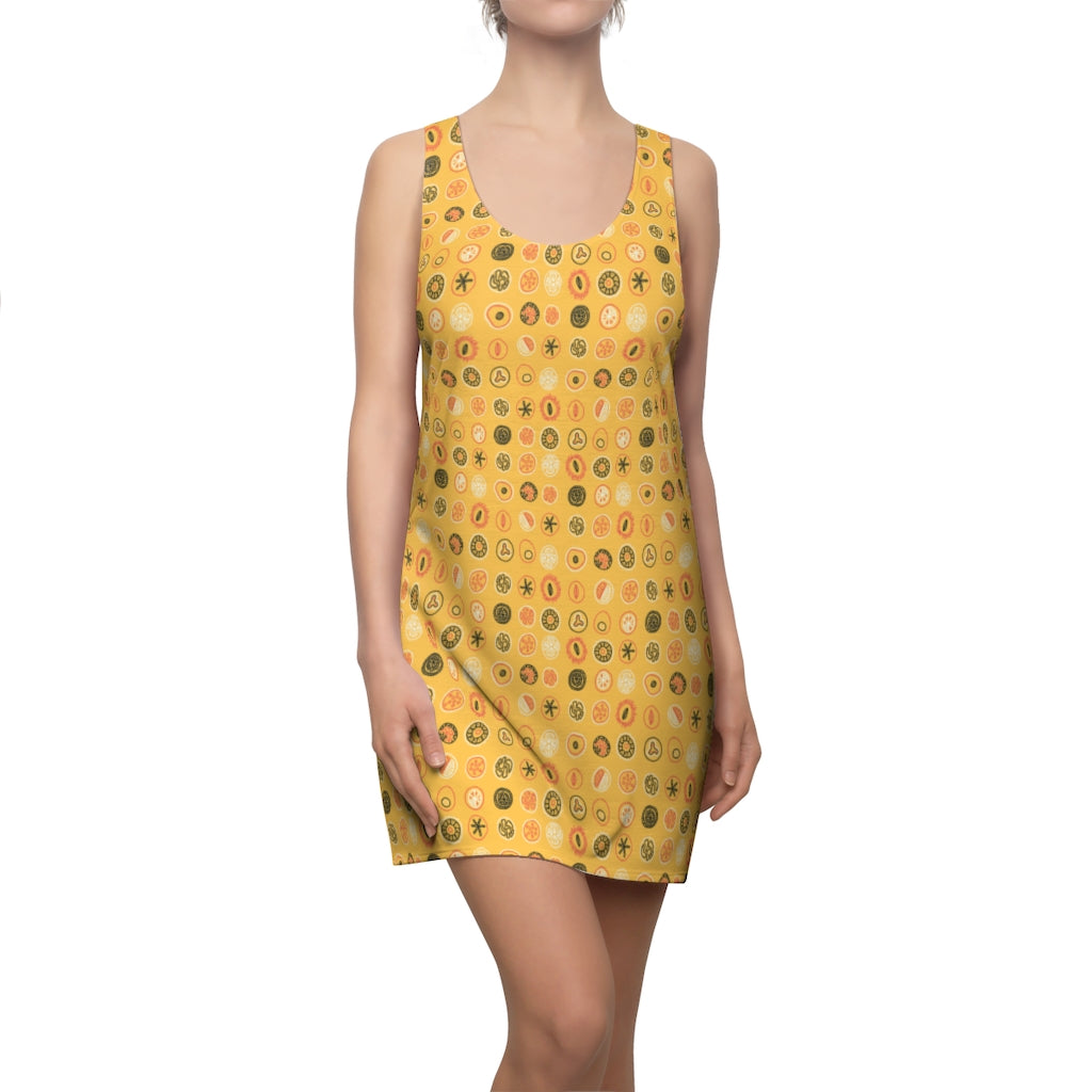 Fruit Drops Sunny Racerback Dress-Geckojoy