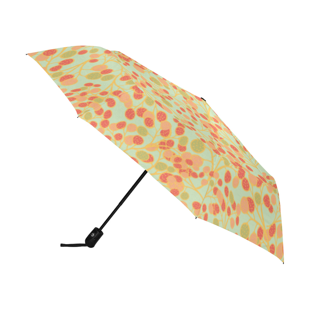 Ripening Rambutans SG25 - Anti-UV Automatic Umbrella(Outside Printing)(Model U09)-Geckojoy