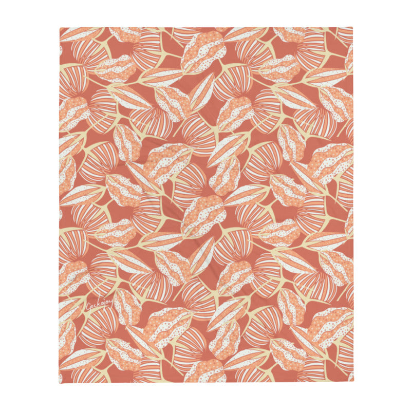 Estuary Seed Pods Throw Blanket-Geckojoy