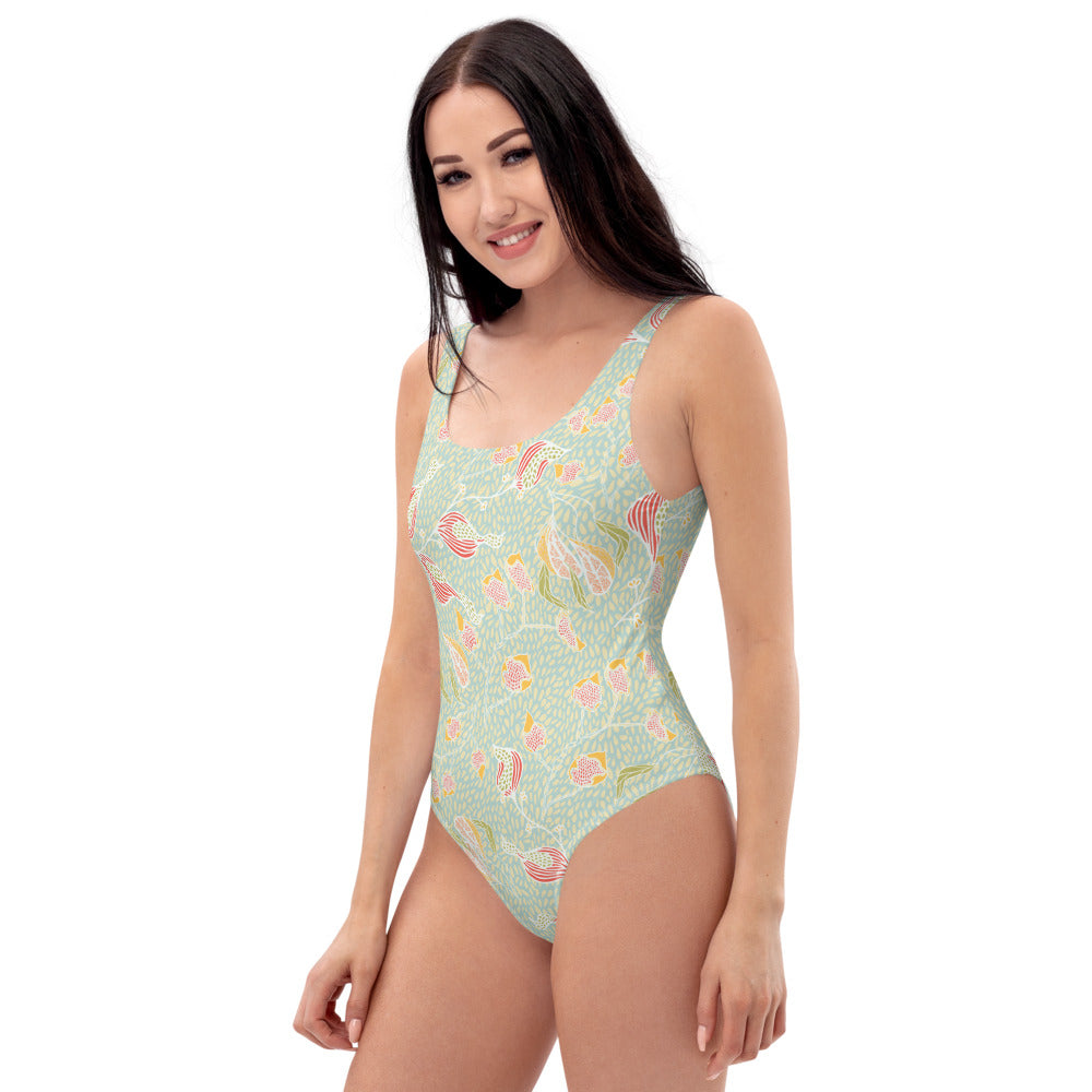 Paddling in Dappled Pools Swimsuit-Geckojoy