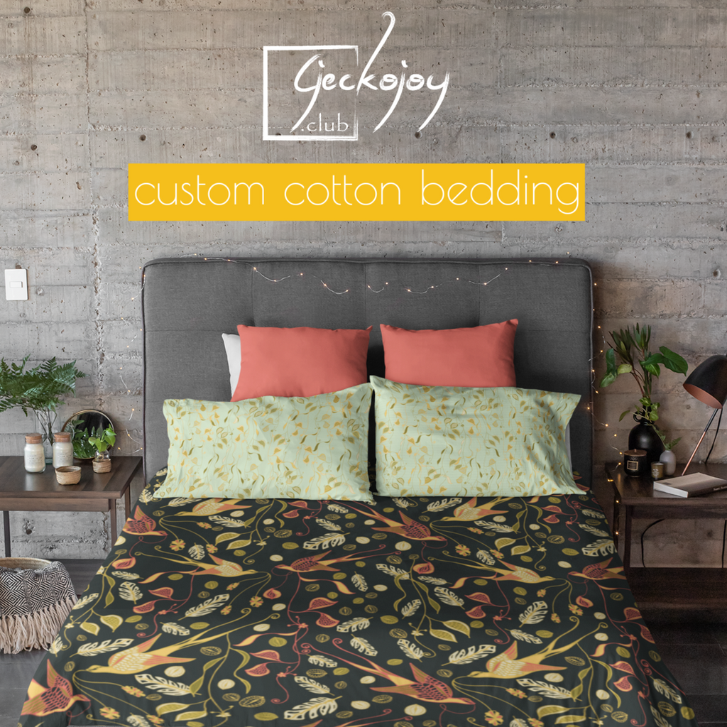 Custom Cotton Duvet Cover-Geckojoy