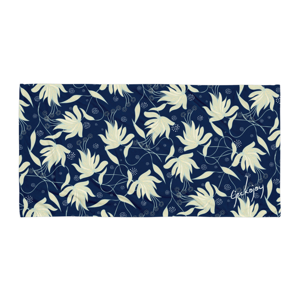 Sea Foam Hibiscus SG04 - Beach Towel-Geckojoy