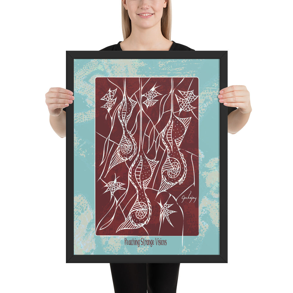 Reaching Strange Visions Framed Print-Geckojoy