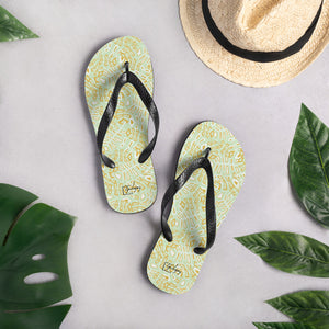 Floating Palms Flip-Flops-Geckojoy