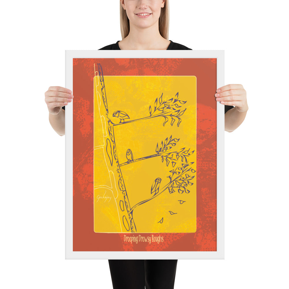 Drooping Drowsy Boughs Framed Print-Geckojoy