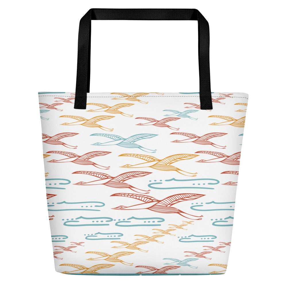 Gliding Through Blue Skies Beach Bag - Limited Edition-Geckojoy