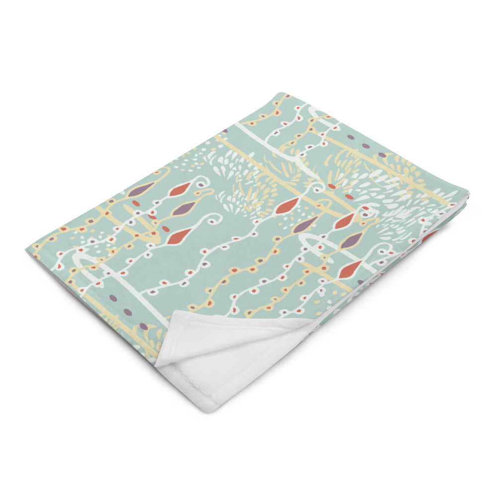 Diving For Pearls Throw Blanket-Geckojoy