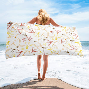 Spiralling Seeds Beach Towel-Geckojoy