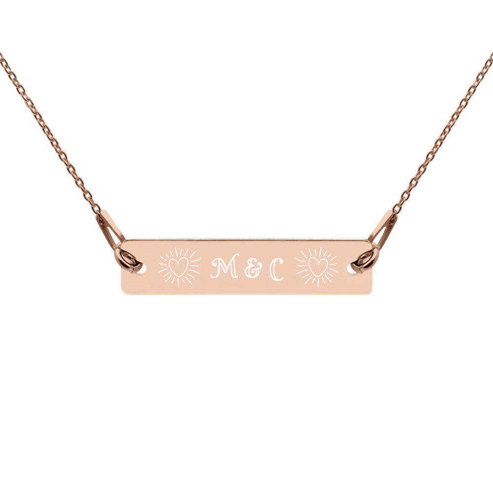 Love Initials Necklace-Geckojoy