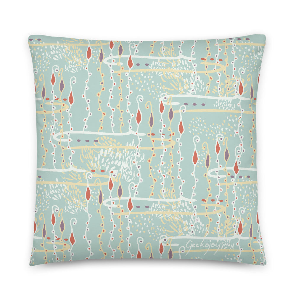 Diving for Pearls Indoor Pillow-Geckojoy