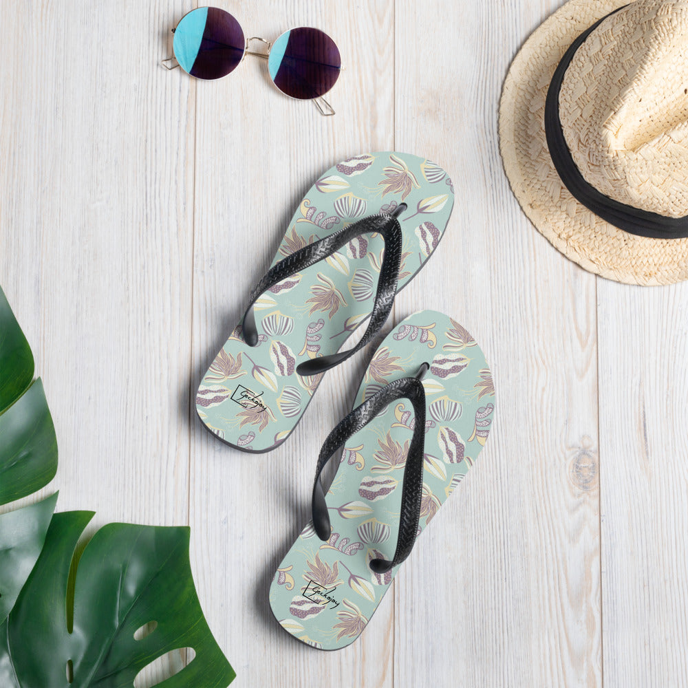 Floating on a Calm Lagoon Flip Flops-Geckojoy