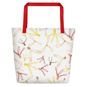 Spiralling Seeds Beach Bag-Geckojoy