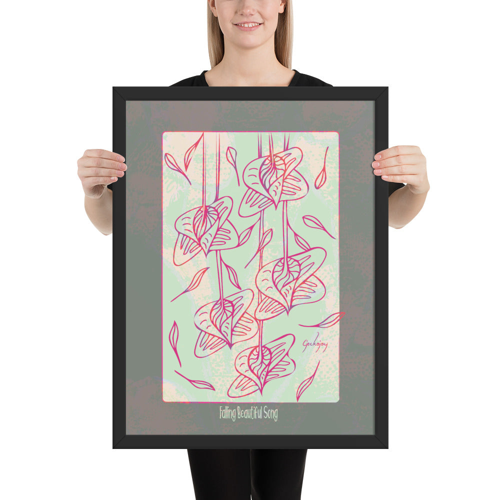 Falling Beautiful Song Framed Print-Geckojoy