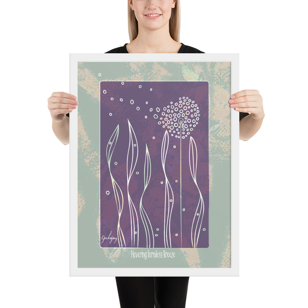 Hovering Formless Breeze Framed Print-Geckojoy