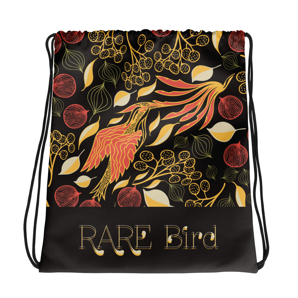 Rare Bird Drawstring Bag-Geckojoy