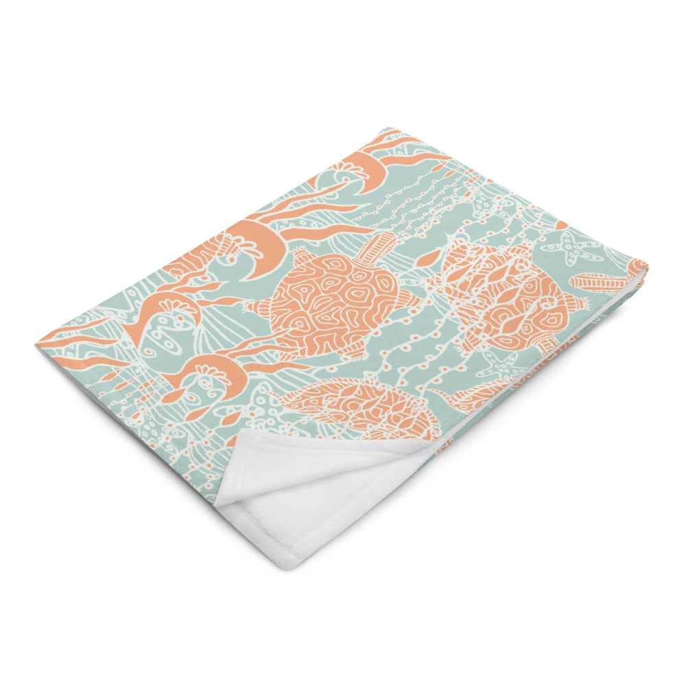 Sea Turtles Throw Blanket-Geckojoy