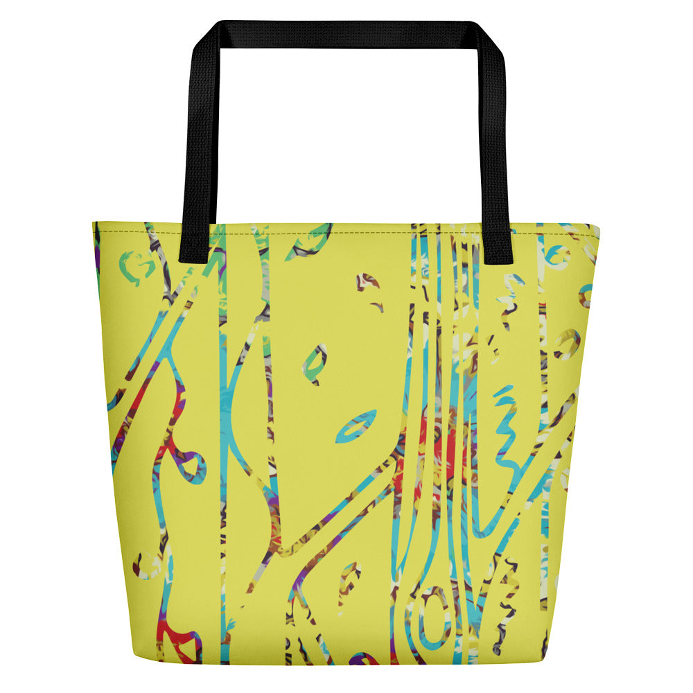 Painted Beach Bag-Geckojoy