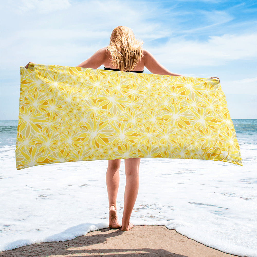 Crazy Daisy Beach Towel-Geckojoy