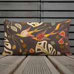Love Birds Dark Outdoor Pillow-Geckojoy