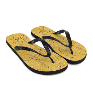 Grass in Bloom Flip-Flops-Geckojoy