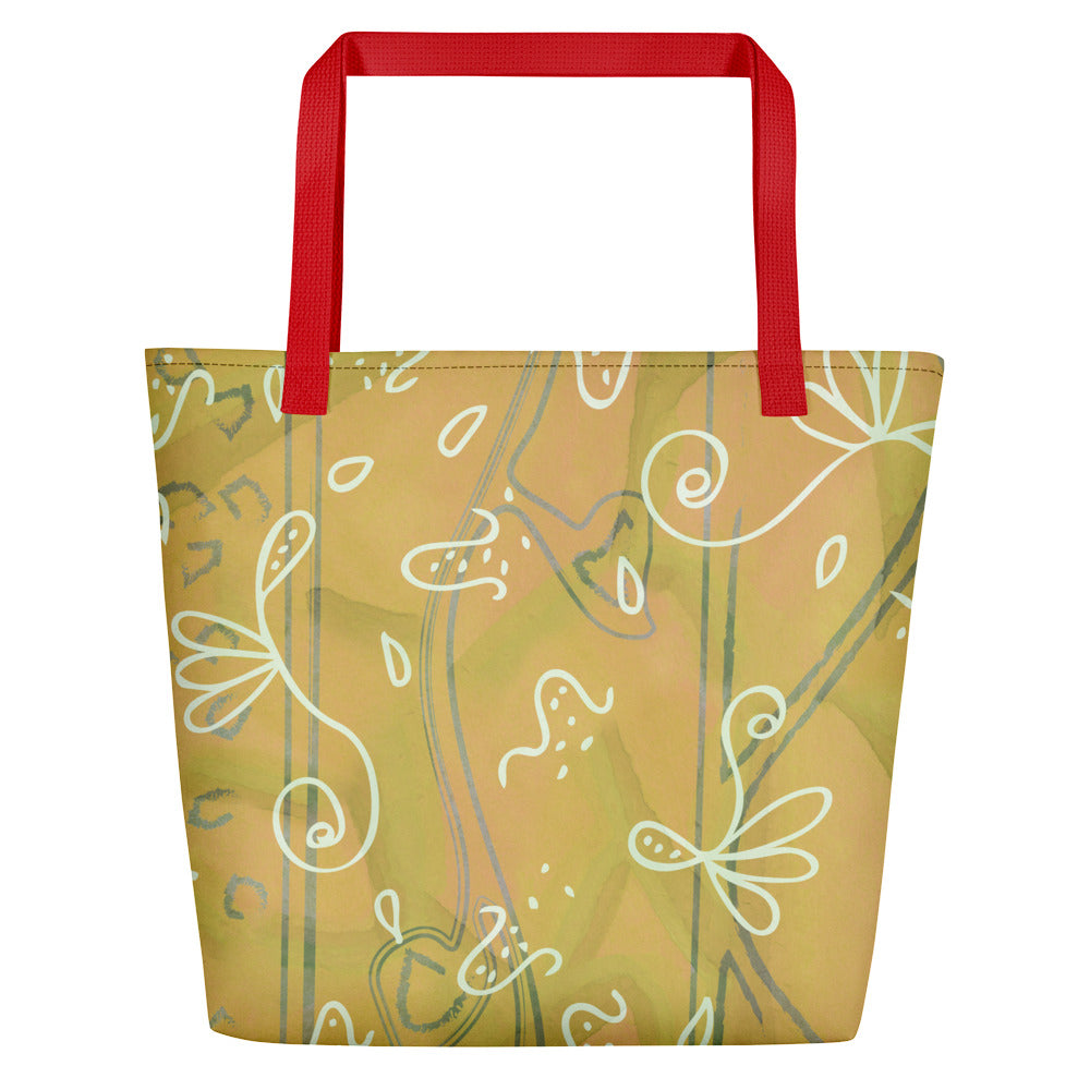 Tumbling Seeds Beach Bag-Geckojoy