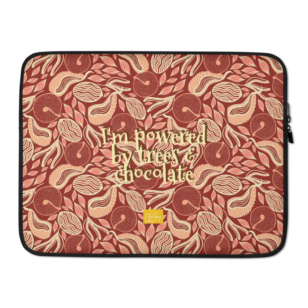 Chocolate Forest Laptop Sleeve-Geckojoy