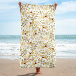 Birds of a Feather Beach Towel-Geckojoy