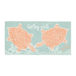 Turtley Chill Beach Towel-Geckojoy