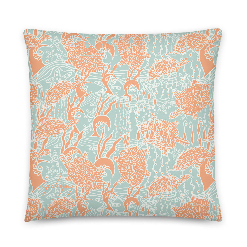 Sea Turtles Indoor Pillow-Geckojoy