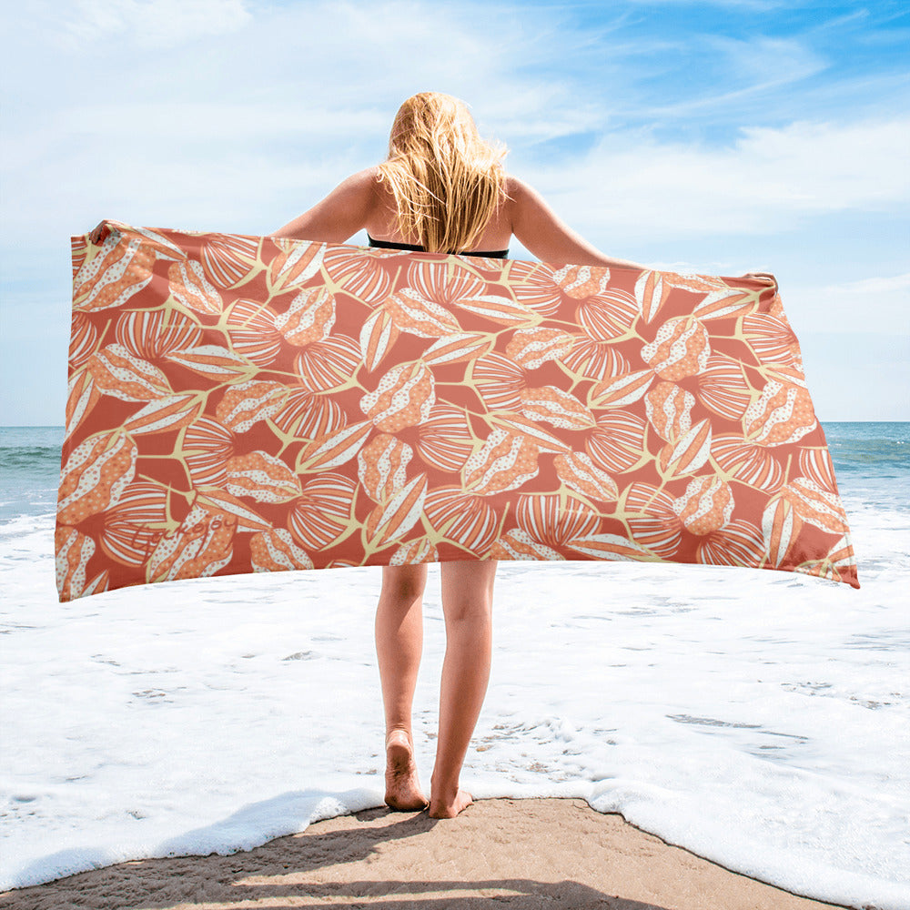 Estuary Seed Pods SG02 - Beach Towel-Geckojoy