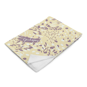 Kuaci Splashes Purple Throw Blanket-Geckojoy