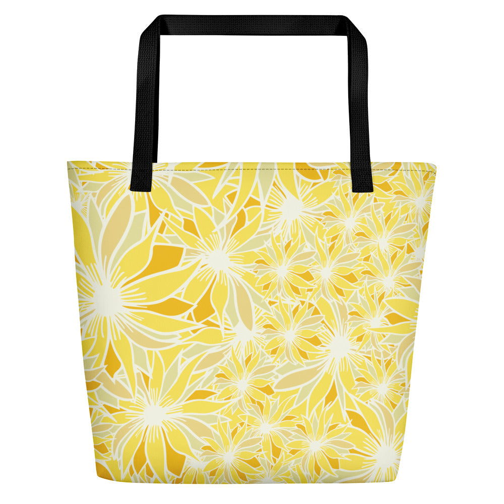 Crazy Daisy Beach Bag-Geckojoy