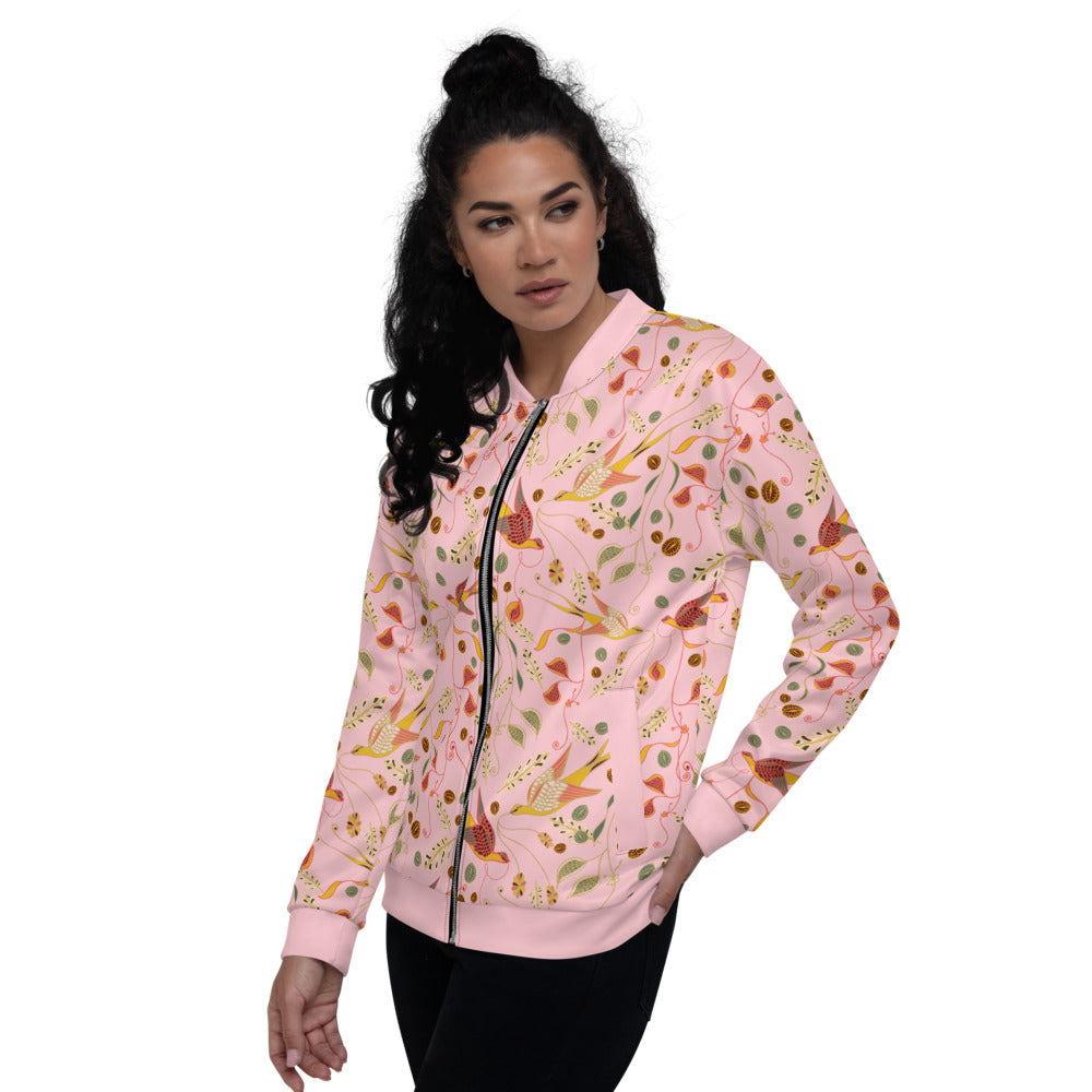 Love Birds Unisex Bomber Jacket-Geckojoy