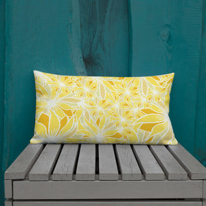 Crazy Daisy Outdoor Pillow-Geckojoy