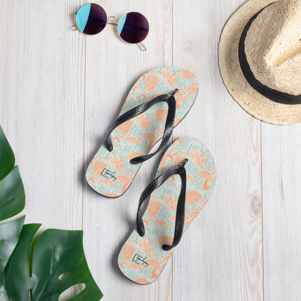 Sea Turtles Flip-Flops-Geckojoy