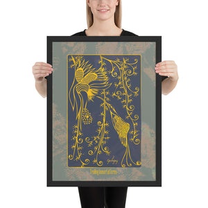 Trailing Immortal Forms Framed Print-Geckojoy