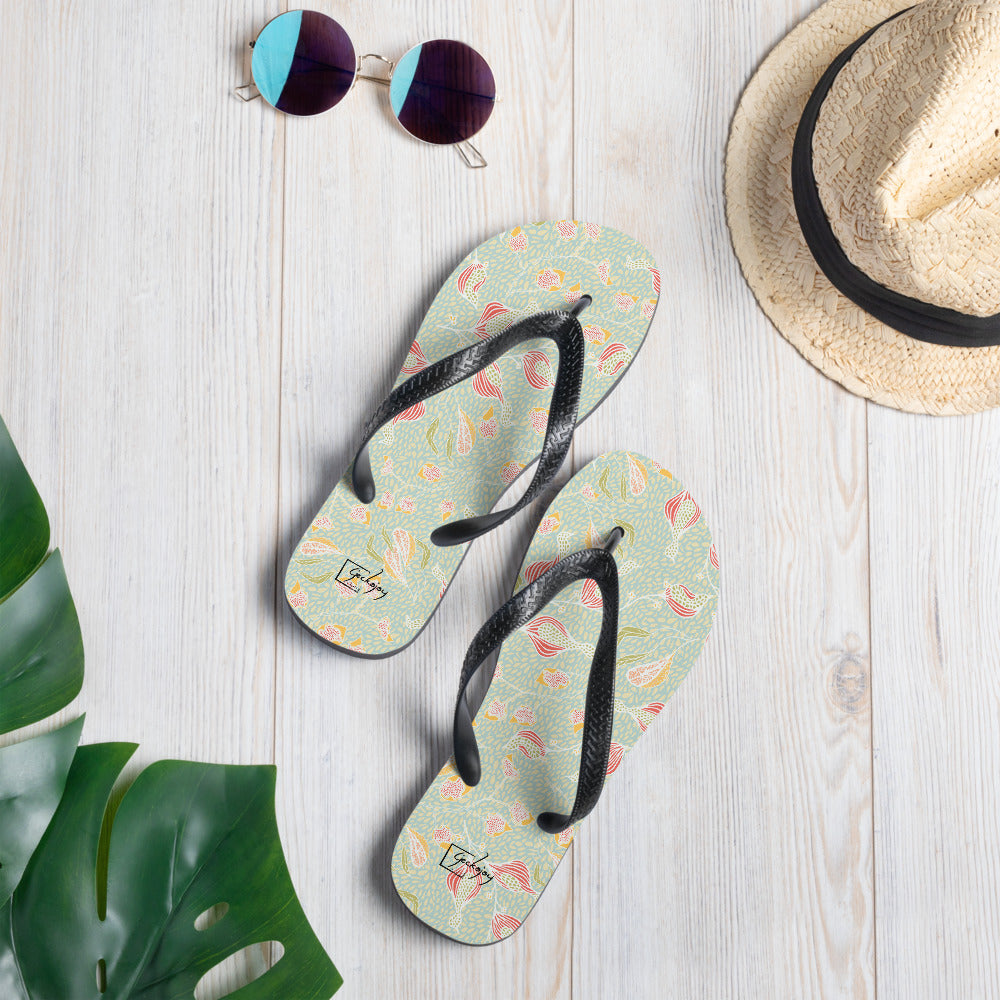 Paddling in Dappled Pools Flip-Flops-Geckojoy