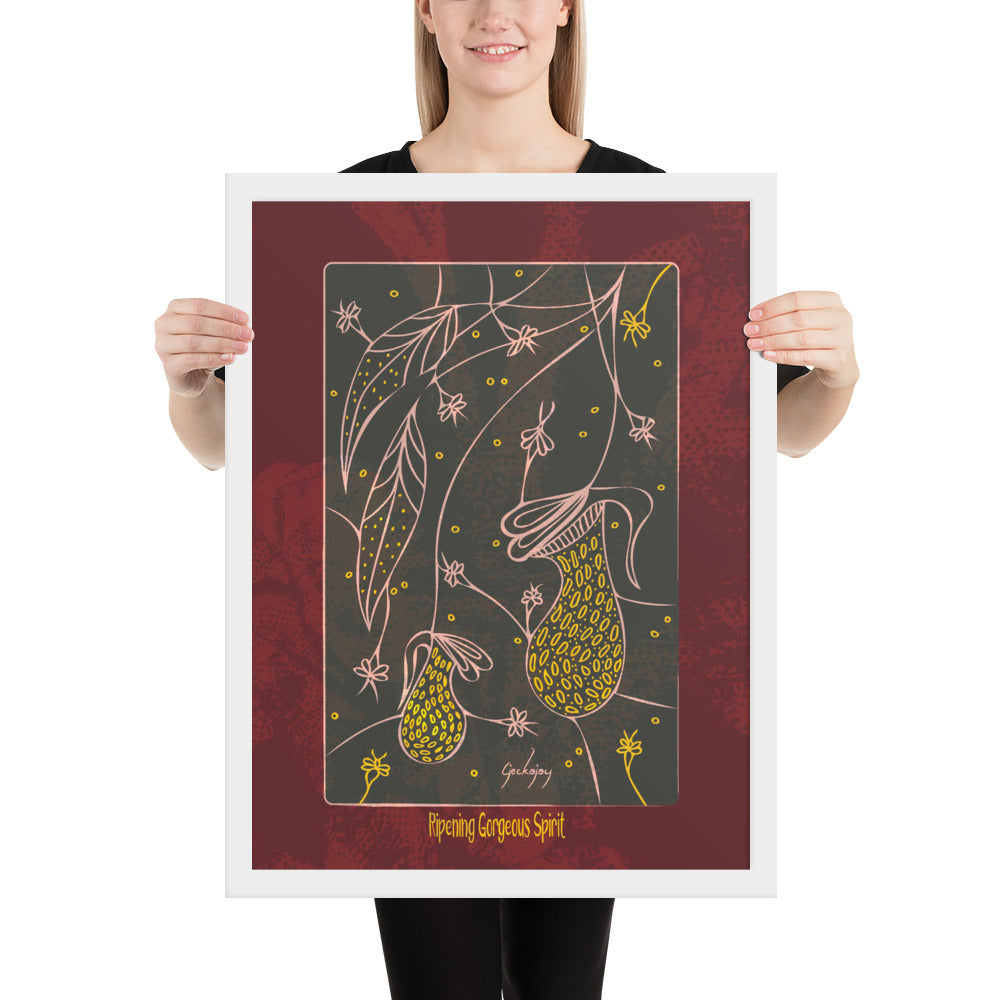 Ripening Gorgeous Spirit Framed Print-Geckojoy