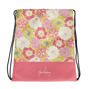 Flower Child Drawstring Bag-Geckojoy