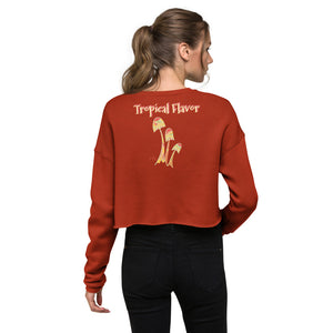 Tropical Beauty Crop Sweatshirt-Geckojoy