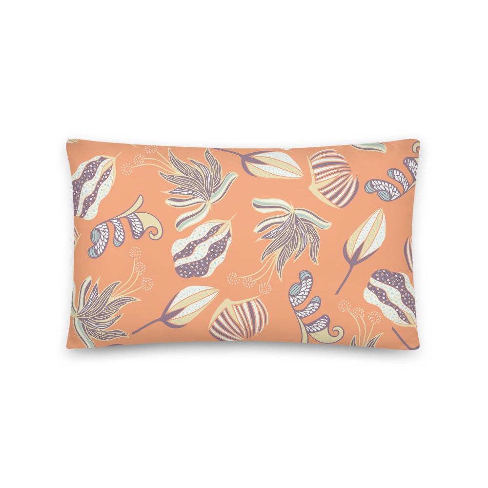Floating on a Calm Lagoon Indoor Pillow-Geckojoy