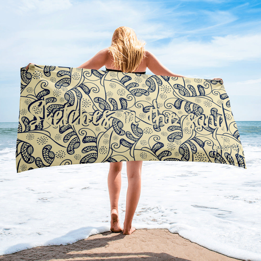 Sketches in the Sand SG05 - Beach Towel-Geckojoy