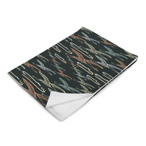 Gliding Through Blue Skies Charcoal Throw Blanket-Geckojoy