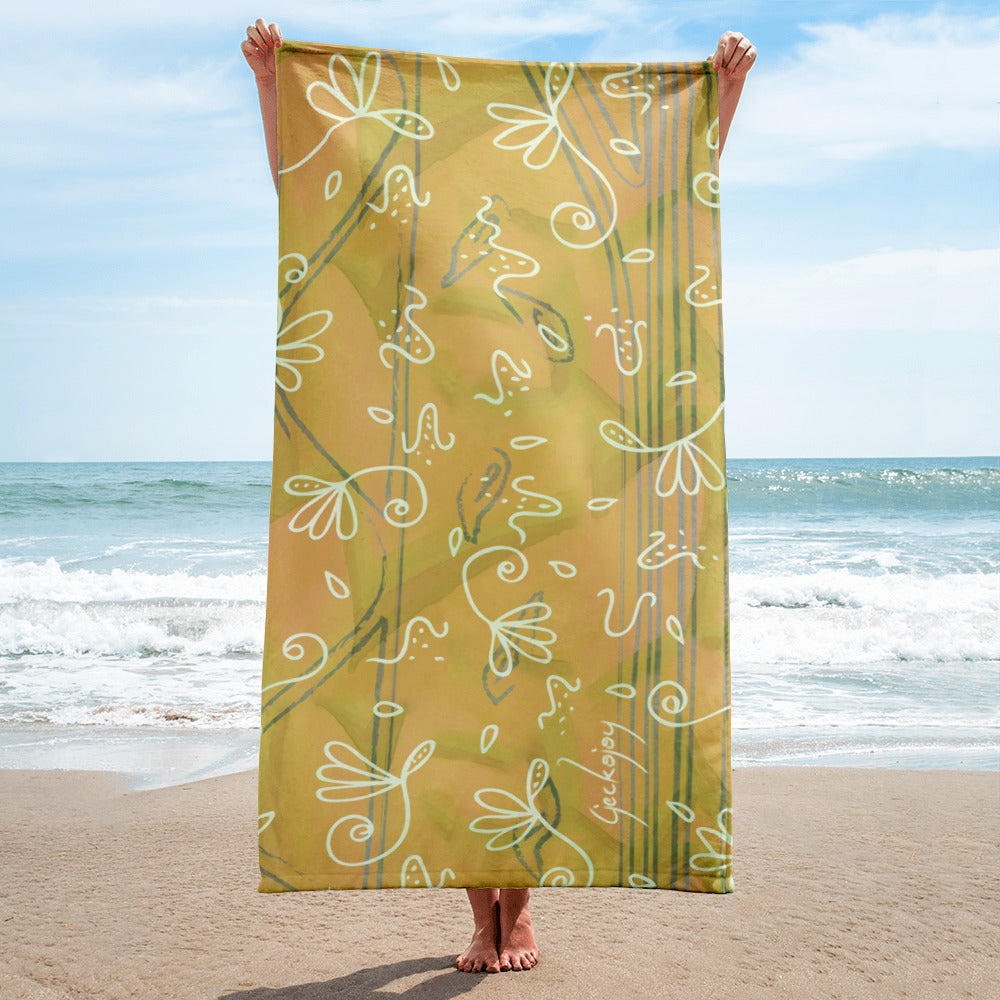 Tumbling Seeds Beach Towel-Geckojoy