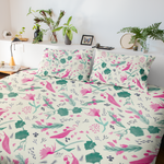 Watercolour Wildflower Cotton Duvet Cover-Geckojoy