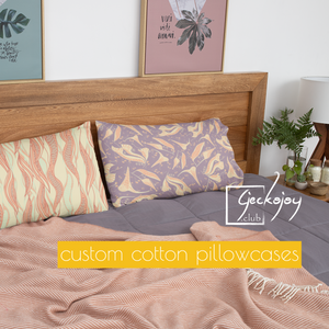 Custom Cotton Bed Pillowcase-Geckojoy