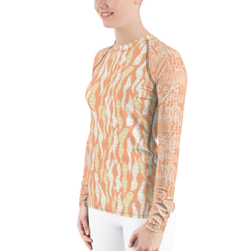 Sea Turtles Women's Rash Guard-Geckojoy