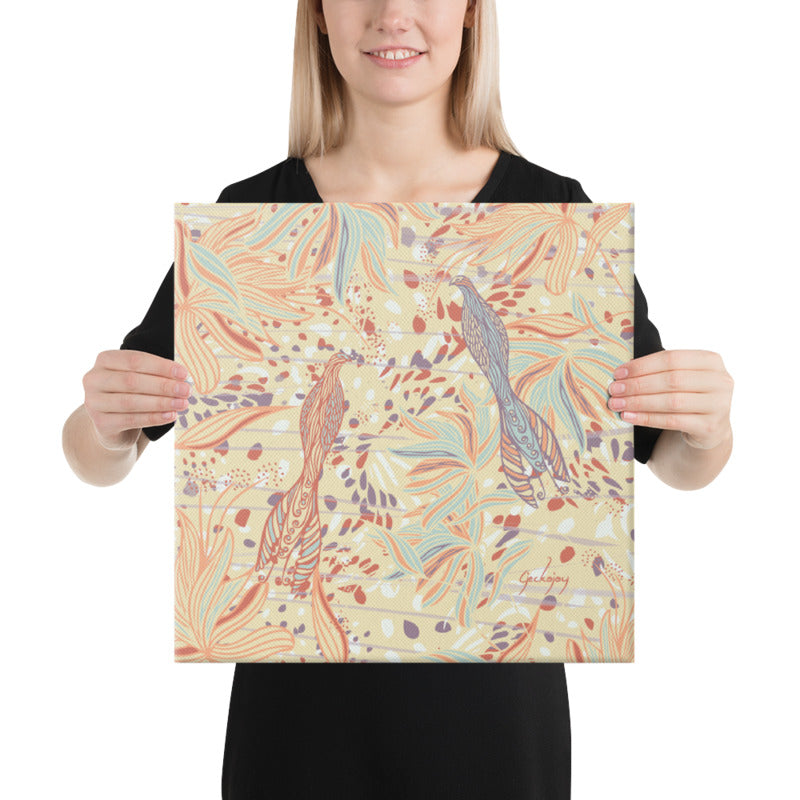 Coastal Courtyard Canvas Print-Geckojoy